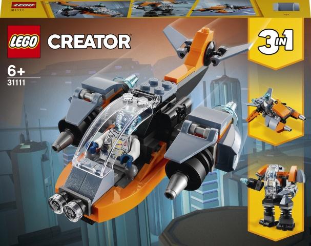 Конструктор LEGO Creator Кибердрон 31111, 113 шт.