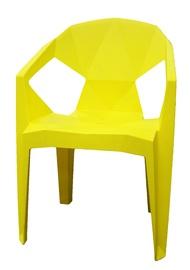 BESK Plastic Garden Chair 54x40x80cm Yellow