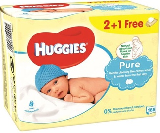 Huggies Pure 168pcs