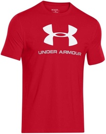 57f87caa4a2 Under Armour T-Shirt CC Sportstyle Logo 1257615-600 Red XS