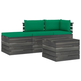 Välimööbli komplekt VLX Garden Pallet Lounge Set 3061784, hall/roheline, 1-3 istekohta