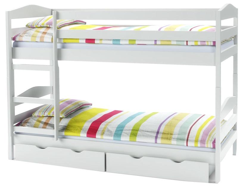 Dviaukštė lova Halmar Sam White, 87x144 cm