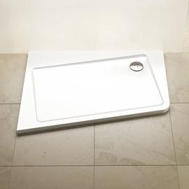 Dušas paliktnis Ravak Asymetric Pro 120x90 L 10°, balts