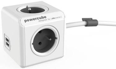 Allocacoc PowerCube Extended USB FR Socket 1.5m Gray