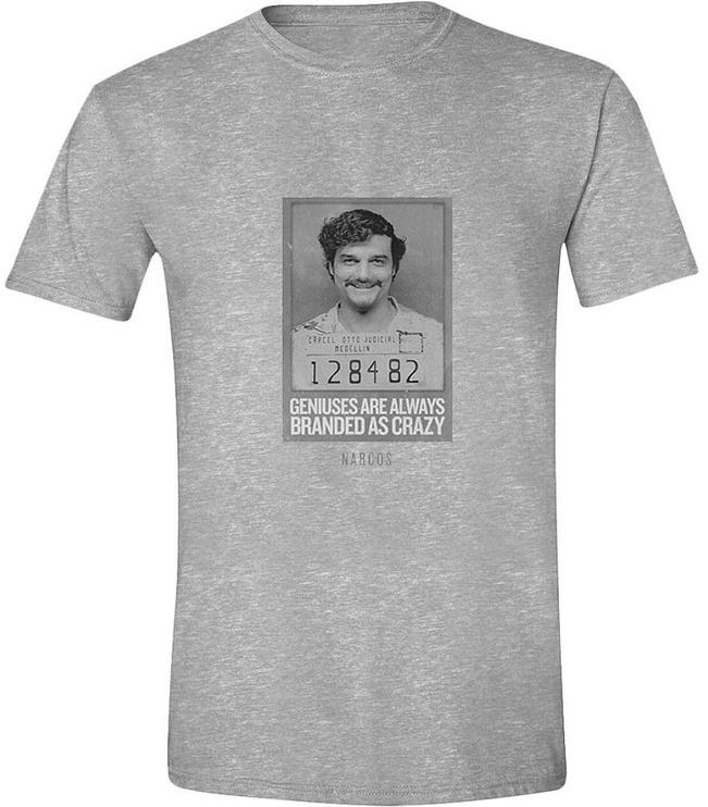 Футболка Licenced Narcos Pablo Genius Crazy T-Shirt Grey S