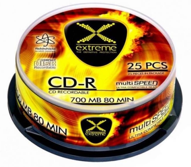 Extreme CD-R 700MB/80min 52x 25pcs