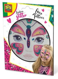 SES Creative Fashion Glitter Face Tattoos Butterfly