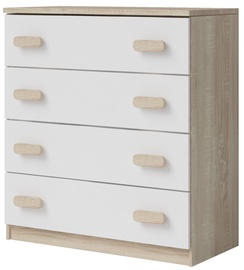 Idzczak Meble Smyk III 02 Chest Of Drawers 4S White/Brown