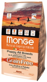 Monge Grain Free Puppy with Duck and Potatoes 2.5kg