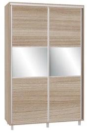 Bodzio SZP150W Sliding Wardrobe w/ Mirror 150x240cm Latte