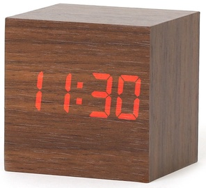 Platinet Alarm Clock Wooden Cube 43242