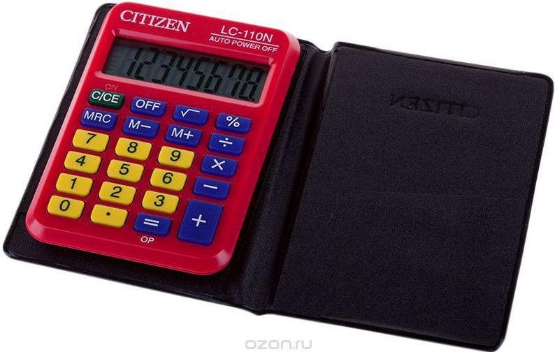 Citizen Pocket Calculator LC 110NRD Red