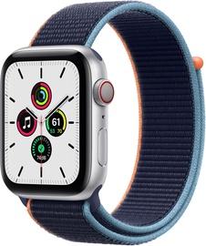 Išmanusis laikrodis Apple Watch SE GPS LTE + Cellular, 44mm Aluminum Deep Navy Sport Loop, sidabro