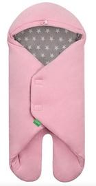 Lulando Velour Wrap For Buli Pink/Grey With White Stars