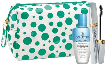 Collistar Shock Mascara 8ml 01 + Eye-Lip Makeup Remover 50ml + Cosmetic Bag