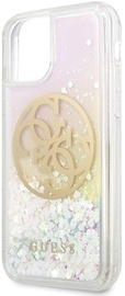 Guess Liquid Glitter 4G Circle Back Case For Apple iPhone 11 Pro Max Gold