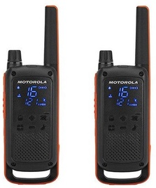 Motorola T82 Twin Pack Black/Orange