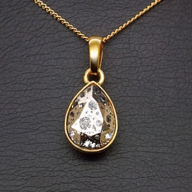 Diamond Sky Pendant Crystal Drop Rose Patina With Swarovski Crystals