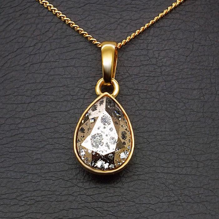 Diamond Sky Pendant Crystal Drop Rose Patina With Swarovski Crystals