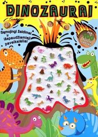 Knyga Dinozaurai per 100 putlių lipdukų