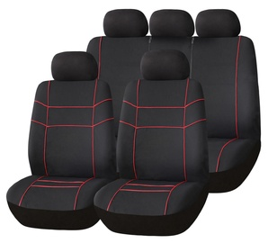 Bottari Vector Seat Cover Set Black Red