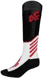 Zeķes 4F Sport, balta/melna/sarkana