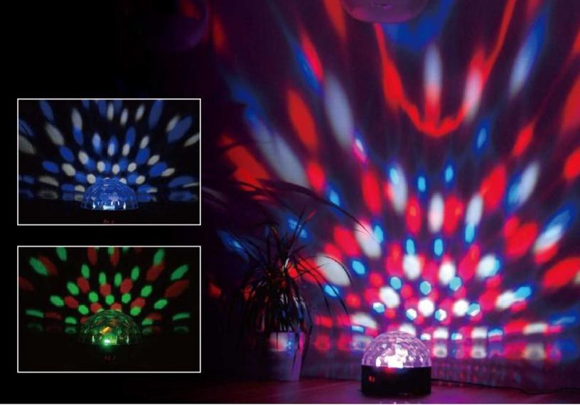 Светодиодный диско-шар KALEIDOSCOPE LED QL-194L, 9W, RGB