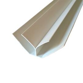 Plastikinių dailylenčių vidinis kampas PL 03, balta, 270 cm