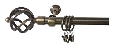 Viengubo karnizo komplektas Futura F512005, 240 cm, Ø 19 mm