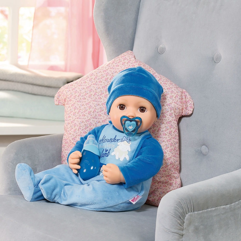 Zapf Creation Doll Baby Annabell Alexander 43cm Crying ...