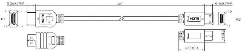 Адаптер ACC HDMI Male to HDMI Mini 1.5m