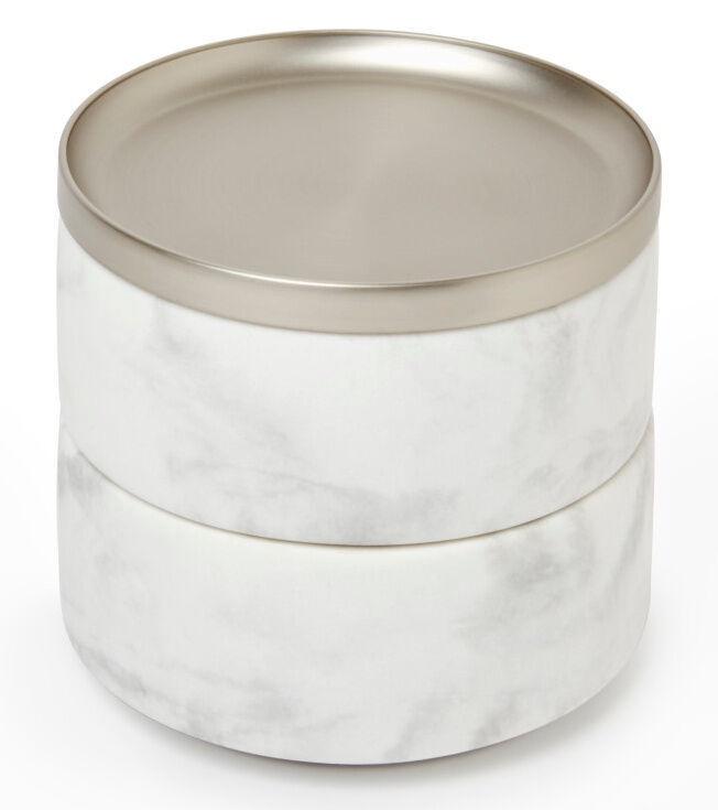 Umbra Tesora Jewelry Box White/Nickel