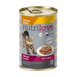 Konservuotas ėdalas katėms Nutrilove Allmeat Chunks, su vištiena, 400 gr