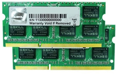 G.SKILL 4GB DDR3 1600MHz CL16 SO-DIMM KIT OF 2 F3-12800CL9D-4GBSQ