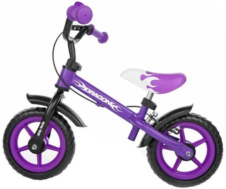 Velosipēds Milly Mally DRAGON Balance Bike With Brakes Violet 	4782