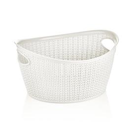 Krepšelis Knit M-1167, 3.3 l, plastikas, baltas