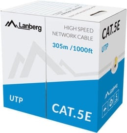Lanberg UTP Cat5e CCA Yellow 305m