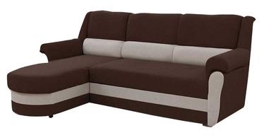 Stūra dīvāns Idzczak Meble Bruno Brown/Beige, 240 x 170 x 97 cm