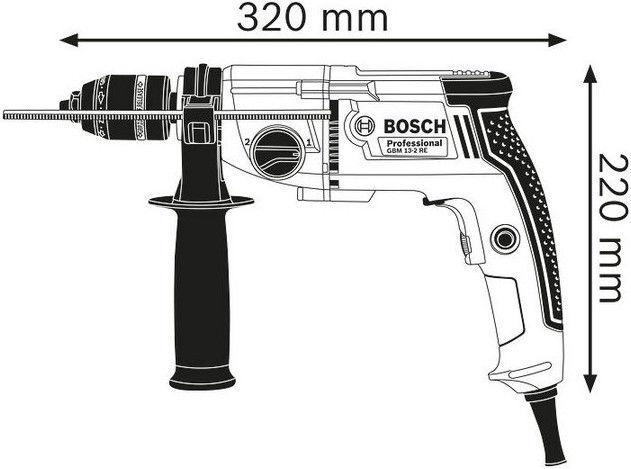 Bosch GBM 13-2 RE Drill Set