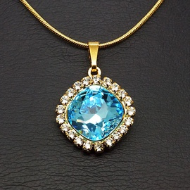 Diamond Sky Pendant Glare III Aqua With Swarovski Crystals