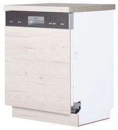 Bodzio Dishwasher Cabinet Front Panel Monia 60cm Oak Soma Pearl