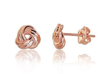 Diamond Sky 14K Red Gold Earrings Golden Whirlwind III Solid Gold 585