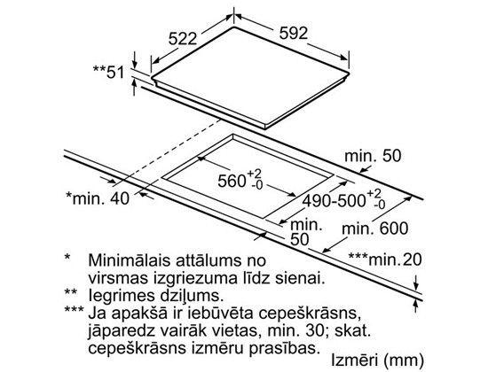 Induktsioonpliit Bosch PIE611BB1E
