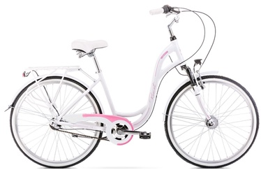 """Велосипед Romet Symfonia 2.0 2126563, белый/розовый, 19"""", 26″"""