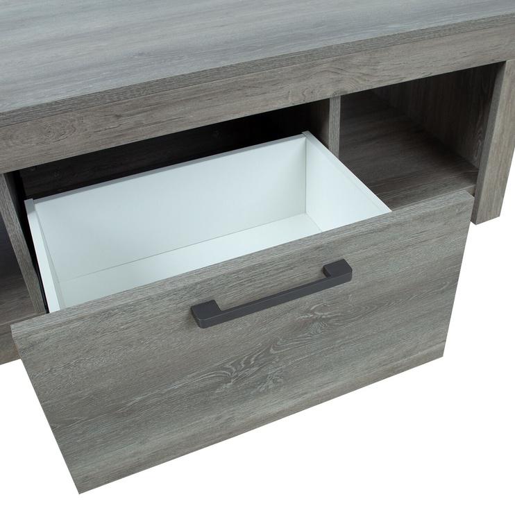 Kafijas galdiņš Home4you Flow, pelēka, 1400x700x400 mm