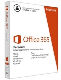 Microsoft Office 365 Personal Russian EuroZone 1 Year Subscription Electronic Licence