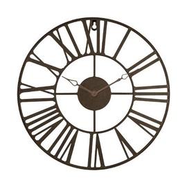 Pulkstenis sienas metal brūns  d36.5