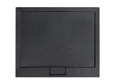 Dušo padėklas AXIM 120x80 su sifonu juodas