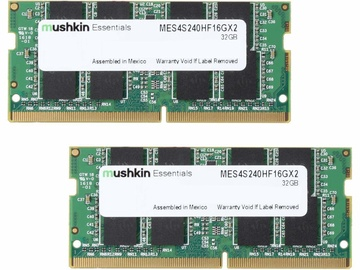 Mushkin Essentials 32GB 2400MHz CL17 DDR4 Kit Of 2 MES4S240HF16GX2 SO-DIMM