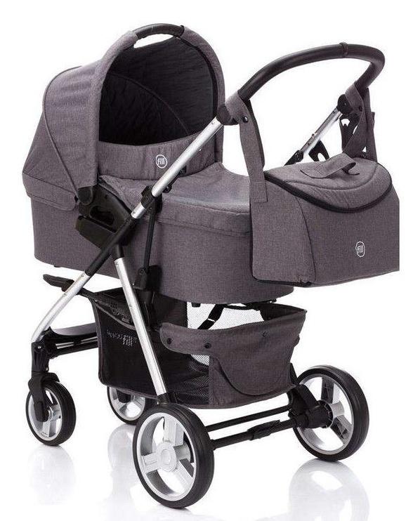 Universalus vežimėlis Fillikid Lion 3in1 Light Grey